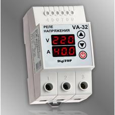 Реле напряжения с контролем тока DigiTOP VA-32