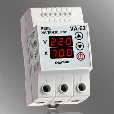 Реле напряжения с контролем тока DigiTOP VA-63